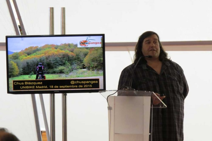 Presentación turismo en bicicleta Rutas Pangea en UNIBIKE 2015