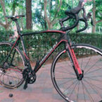 Venta-bici-carretera-segunda-mano-carbono-Macario-Prothos-negra-roja-(2)