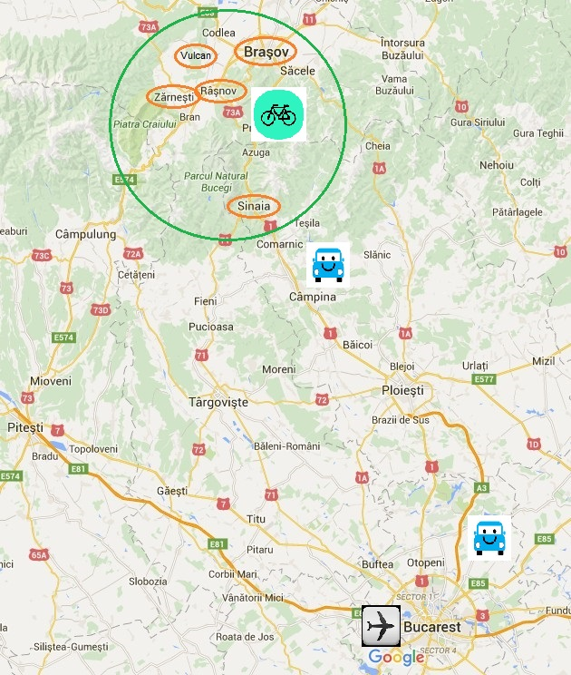 mapa ruta Rumania en bici