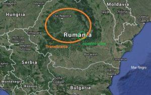 Mapa Rumanía