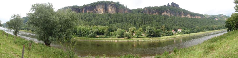 Eurovelo 7 por el rio Elba