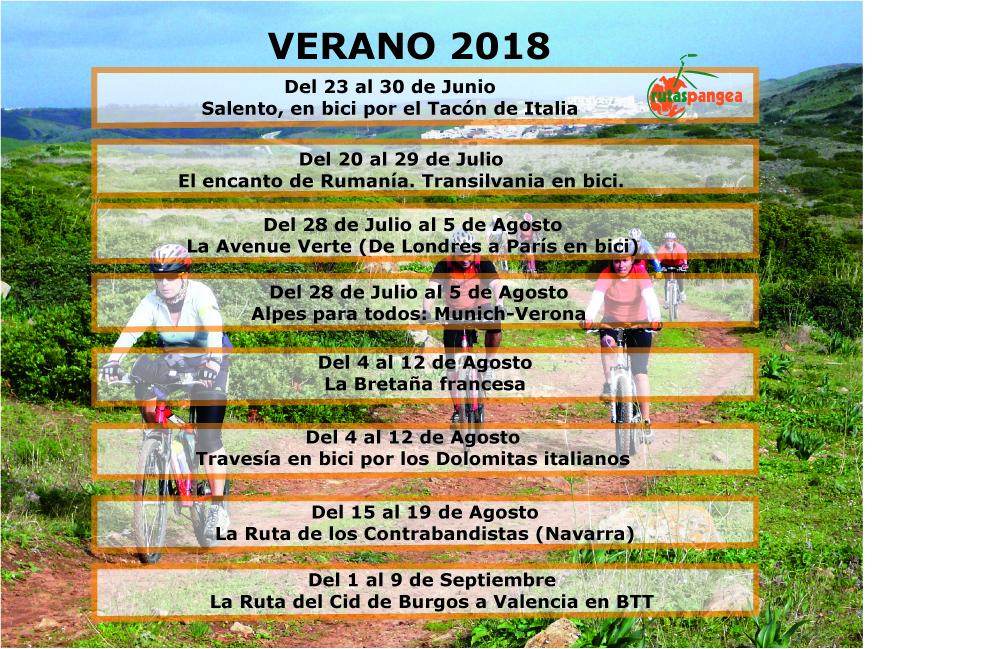 viajes en bici verano 2018