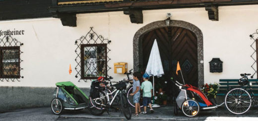 Viajar en bici con niños