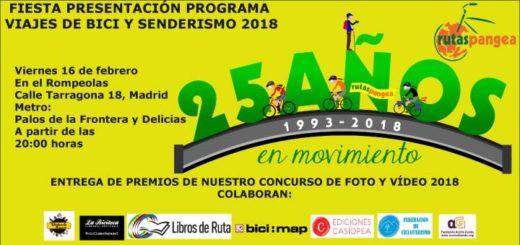 Fiesta presentación Rutas Pangea 2018