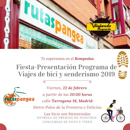 Invitación fiesta Rutas Pangea 2019