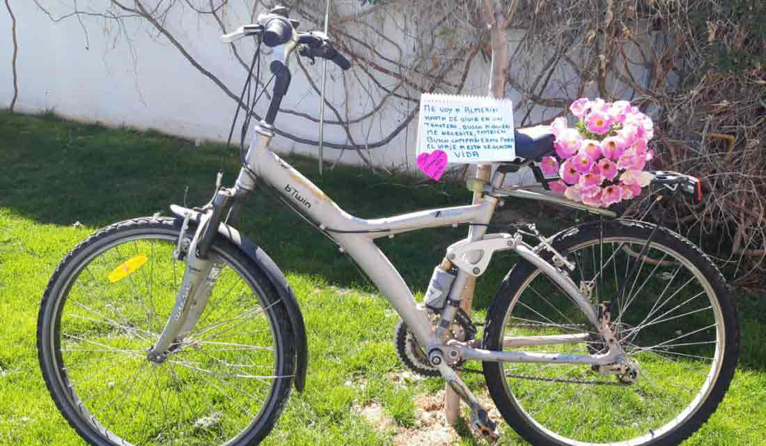 bici donada a bicis para Almeria